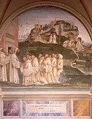 Stories of St Benedict, by Luca Signorelli (ca 1445-1523), fresco. Cloister of St Benedict, Abbey of Monte Oliveto Maggiore.