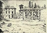 The Dioscuri (Castor and Pollux), G. Van Valckenborgh, Italy 17th Century. Print.  Vienna, Akademie Der Bildende Künste, Gemäldegalerie (Picture Galle...