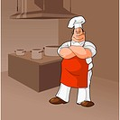Cook In a Kitchen Clip Art