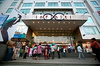 Exterior of entrance of infinity mall , Andheri , Bombay now Mumbai , Maharashtra , India