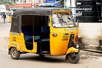 Auto rickshaw at Suchindram village , Tamil Nadu , India
