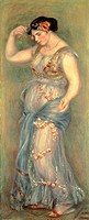 Dancer with castanets, 1909, by Pierre-Auguste Renoir (1841-1919).  London, National Gallery