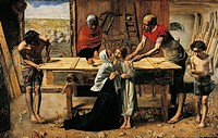 Christ in the house of his parents, by John Everett Millais (1829-1896).  London, Tate Gallery