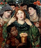 The beloved The Bride, 1865_1866, by Dante Gabriel Rossetti 1828_1882, oil on canvas, 82x76 cm.