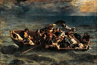 The Shipwreck of Don Juan, by Eugene Delacroix (1798-1863).  Paris, Musée Du Louvre