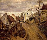 Village Road, Auvers, 1872-1873, by Paul Cezanne (1839-1906).  Paris, Musée D'Orsay (Art Gallery)