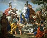 Olynthus and Sophronia, by Giovanno Battista Pittoni (1687-1767).  Vicenza, Museo Civico Palazzo Chiericati