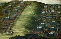Artillery bombardment, in second phase of Battle of White Mountain near Prague on 7_8 November 1620, painting by Pieter Snayers 1592_1667 preserved in...
