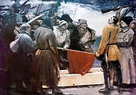 Oath of the Partisans, by Sergei Gerasimov (1885-1964). Russia, 20th century.  San Pietroburgo, Gosudarstvennyj Russkij Muzej