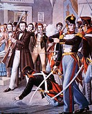 Arrest of Ciro Menotti, Unification era, Italy, 19th century