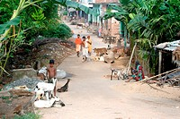 Village life , People are Busy with the Daily Routine work , Jaganath puri , Bhubaneswar , Orissa , India