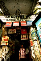 Entrance gate to Indian Coffee House ; College street ; Calcutta ; West Bengal ; India