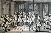 Masonic Lodge for the admission of apprentices to the Grand Orient of France, engraving. France, 18th century.  Paris, Bibliothèque Des Arts Decoratif...