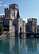 Scaliger Castle of Sirmione (Brescia), Lake Garda, Lombardy. Italy, 13th century.