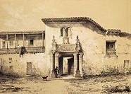 Francisco Pizarro's house in Cuzco, engraving, 1853. Peru, 16th century.  Vincennes, Castello Service Historique De La Marine Bibliotheque Historique ...