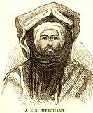 Lithographic portraits Rug Merchant , India
