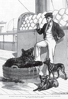 Royalty on Tour Prince´s Voyage Home from India Life Board Serapis Himalayan black bear and tailless dogs , India