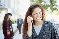 Businesswomen Talking on Phone