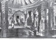 Temple Interior of Jain temple at Dailwarra or Dilwara , Mount Aboo or Mount Abu , Rajasthan , India