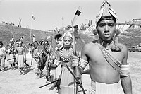 Tribal dance Ziro district headquarters Lower Subansiri , Arunachal Pradesh , India 1982 NO MR