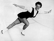 Seyfert, Gabriele Gaby, * 23.11.1948, German figure skater, during the European Championship in Vaesteras, Sweden, 22.1.1968,