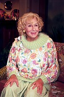 Alexander, Peter, 30.6.1926 _ 12.2.2011, Austrian musician / artist, singer and actor, half length, dressed up as Rose of the Golden Girls, Peter Alex...