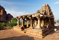 Yellamma temple is a late Chalukya temple built in 11th century , Badami , Karnataka , India