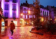 Christmas lights, Place Pasteur, Bayonne, Aquitaine, Pyrénées-Atlantiques, Basque country, 64, France.