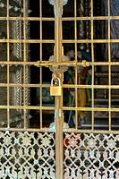 Door ; Swaminarayan temple ; Chhapaiya near Ayodhya ; Faizabad ; Uttar Pradesh ; India