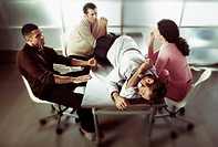 Discussion over napping coworker