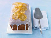 Lemon cake with icing