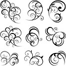 Scroll shape floral ornament