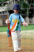 Arjun Tendulkar son of Master Blaster Sachin Tendulkar net practicing in in Bombay Mumbai , Maharashtra , India NO MR