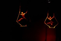 Artist of Nofit State Circus performing at Mood Indigo , annual cultural festival of Indian Institute of Technology , Powai campus in Bombay Mumbai , ...