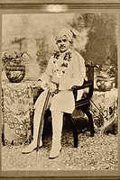 Old photograph of father Mota Devaliya district Amreli , Saurashtra , Gujarat , India NO MR