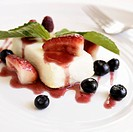 Semifreddo with Blueberries and Strawberries