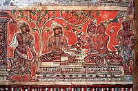 Seventeenth century mural in Narambunathaswamy temple wall at Thiruppudaimarudur temple near Tirunelveli ; Tamil Nadu ; India
