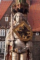 Roland Statue at the Market Quare, Bremen, Germany