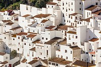 Casares, Spain. Typical whitewashed mountain town.