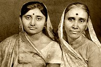 Old photo of mother in_law and daughter in_law , Idar , Gujarat , India MR767