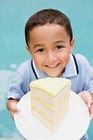 Young boy with cake