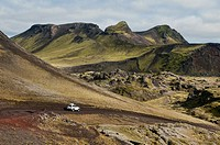 the beautiful scenery of Landmannalaugar, Iceland