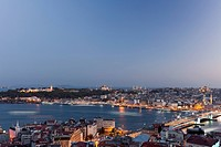 Panorama of Old Istanbul at dusk