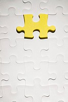 Yellow jigsaw piece