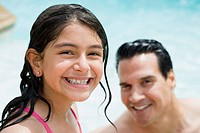 Girl and Father in Swimming Pool