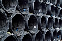 wire rolls at steel work
