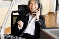 Businesswoman Making Phone Call
