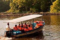 Boating in veli tourist park , Trivandrum Thiruvananthapuram , Kerala , India