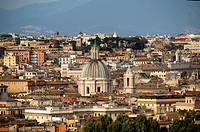 Partial view of the city of Rome  Rome, Lazio, Italy, Europe.
