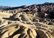 Eroded badlands at Gower Gulch seen from Zabriskie Point  Death Valley National Park, California, USA
